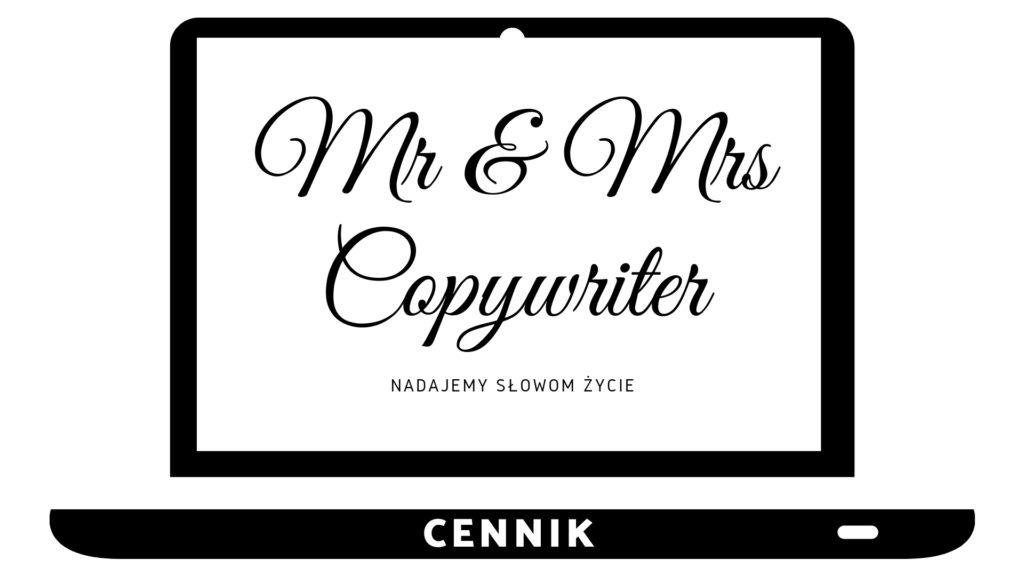 Cennik - Mr and Mrs Copywriter