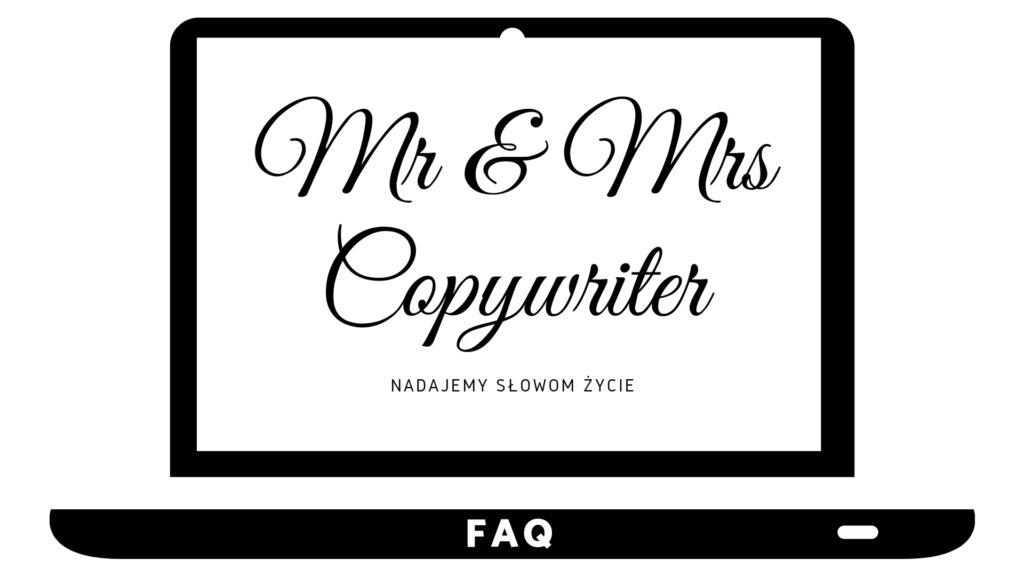 FAQ - Mr and Mrs Copywriter